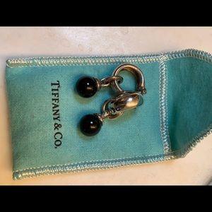 Tiffany & Co black onyx clip on earrings